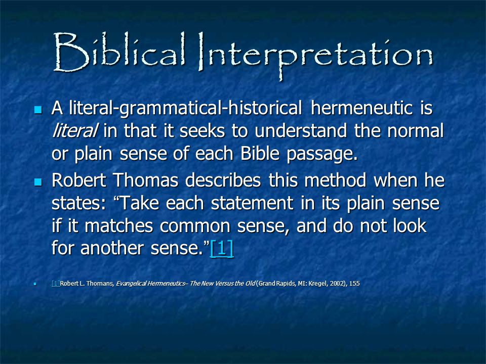 Biblical Interpretation