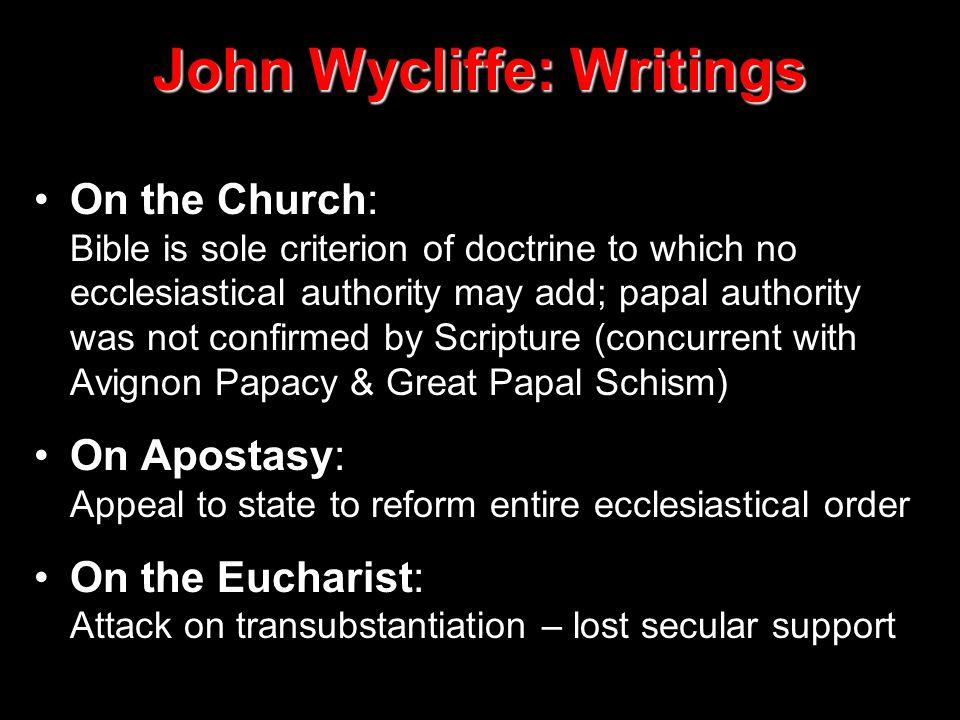 John Wycliffe: Writings