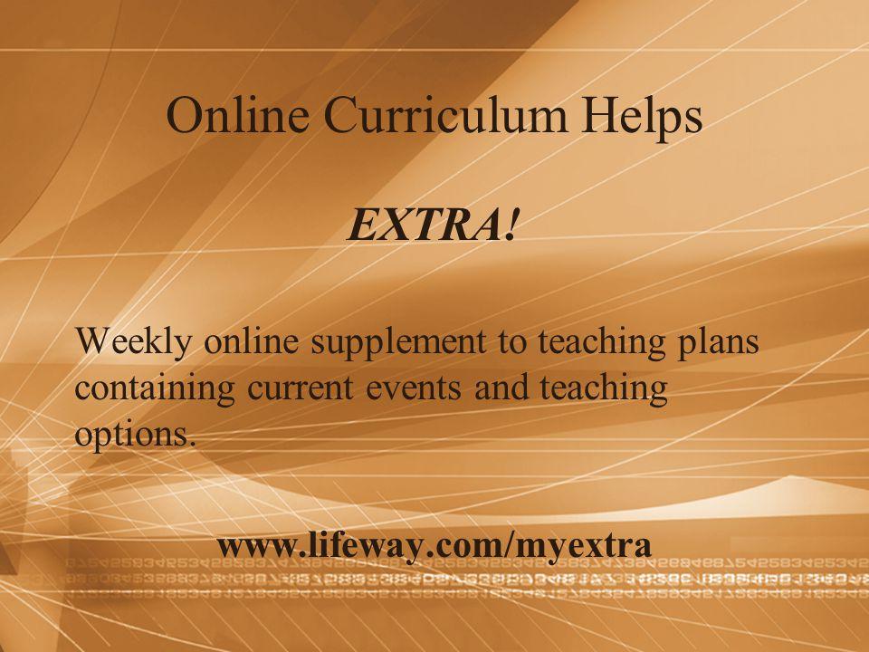 Online Curriculum Helps