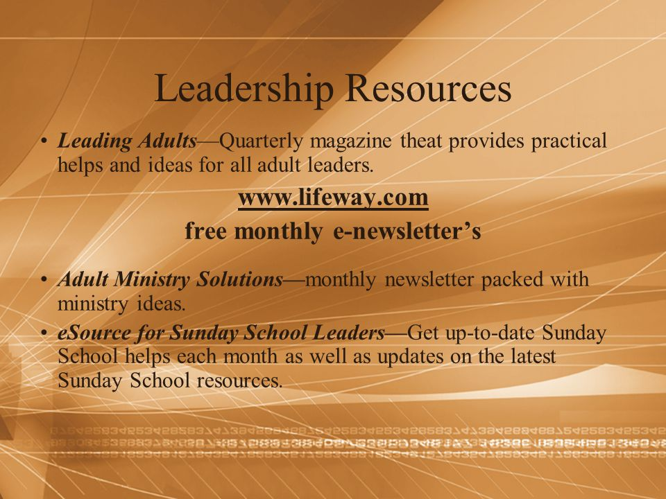 free monthly e-newsletter's
