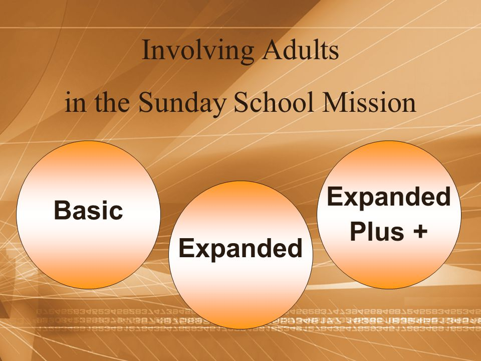 in the Sunday School Mission