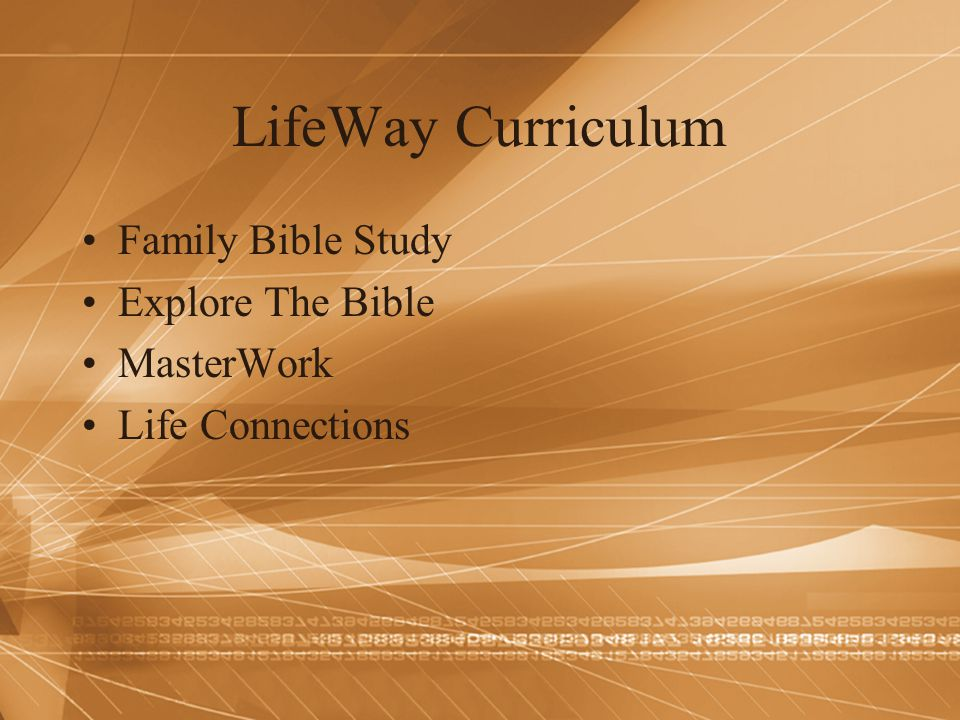 LifeWay Curriculum Family Bible Study Explore The Bible MasterWork