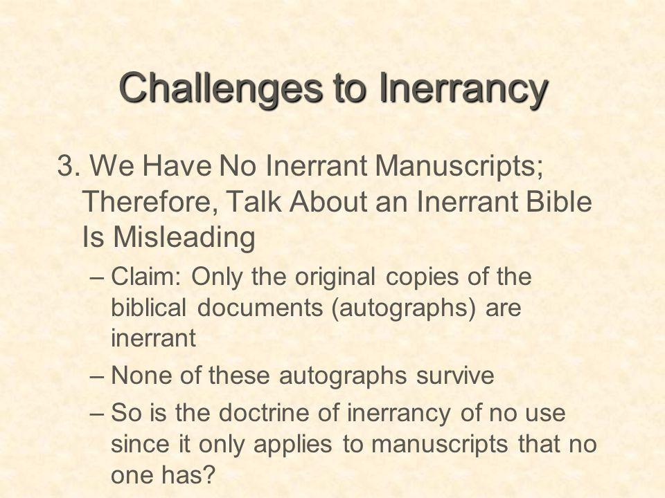Challenges to Inerrancy