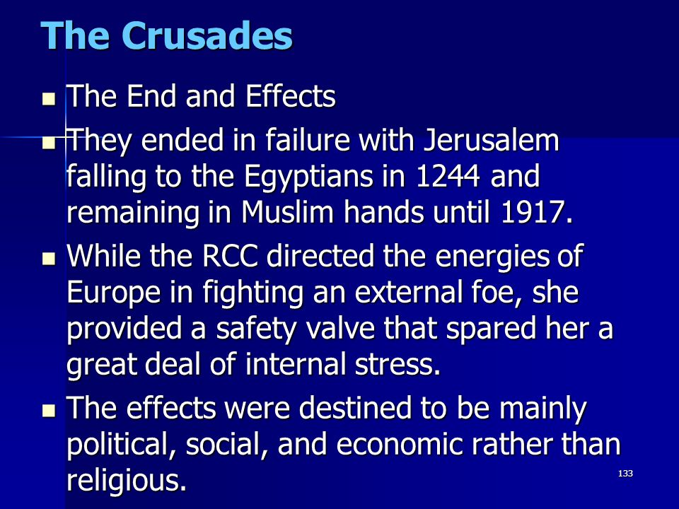The Crusades The End and Effects