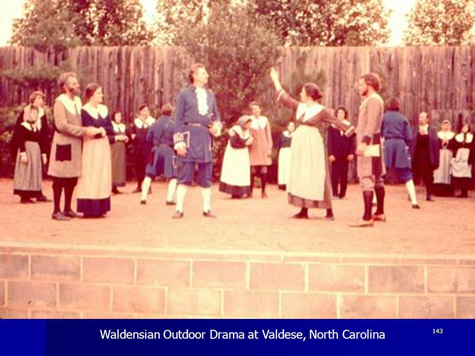 Waldensian Outdoor Drama at Valdese, North Carolina