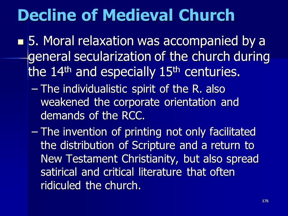 Decline of Medieval Church