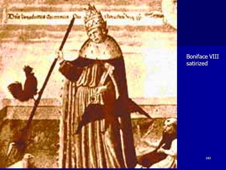 Boniface VIII satirized