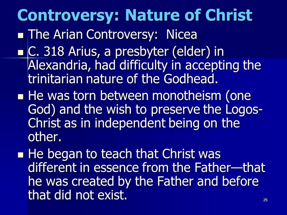 Controversy: Nature of Christ