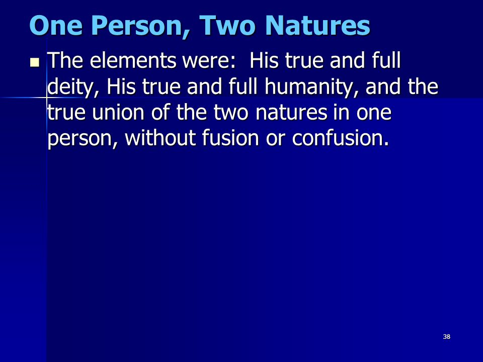 One Person, Two Natures