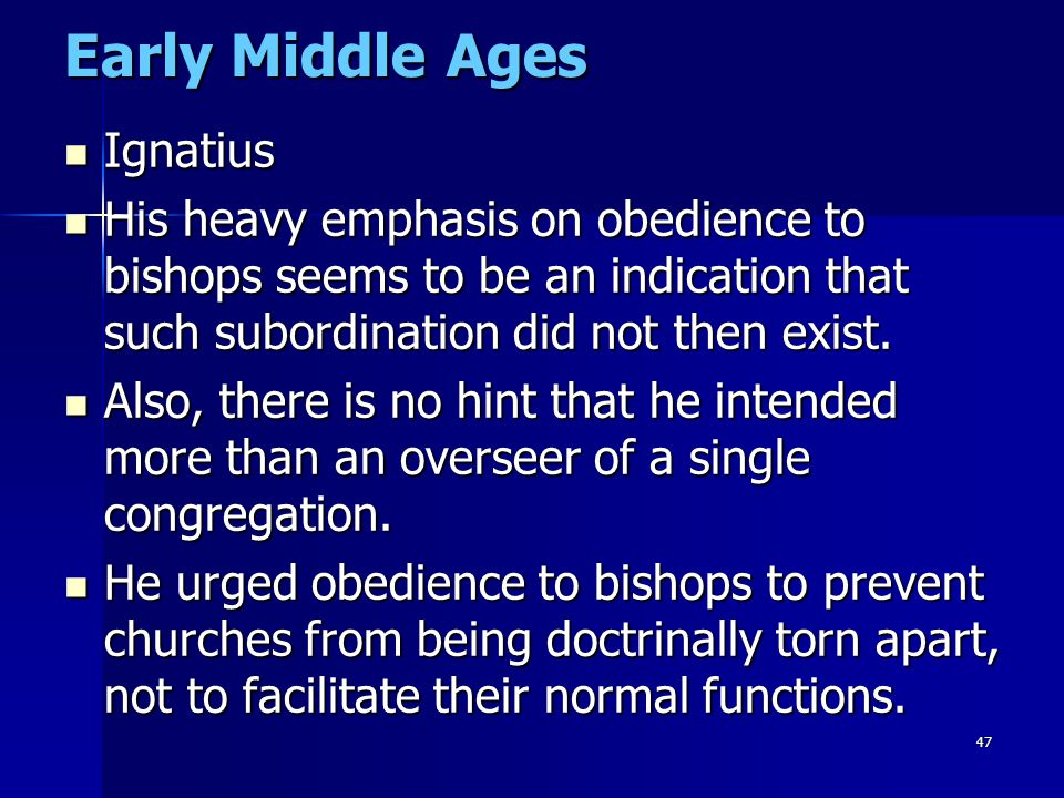Early Middle Ages Ignatius