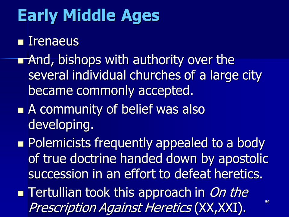 Early Middle Ages Irenaeus