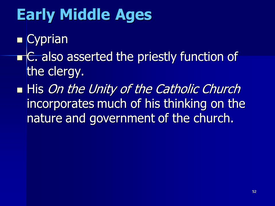 Early Middle Ages Cyprian