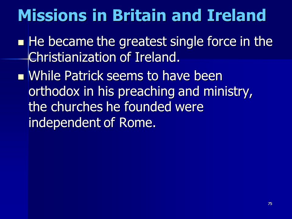 Missions in Britain and Ireland
