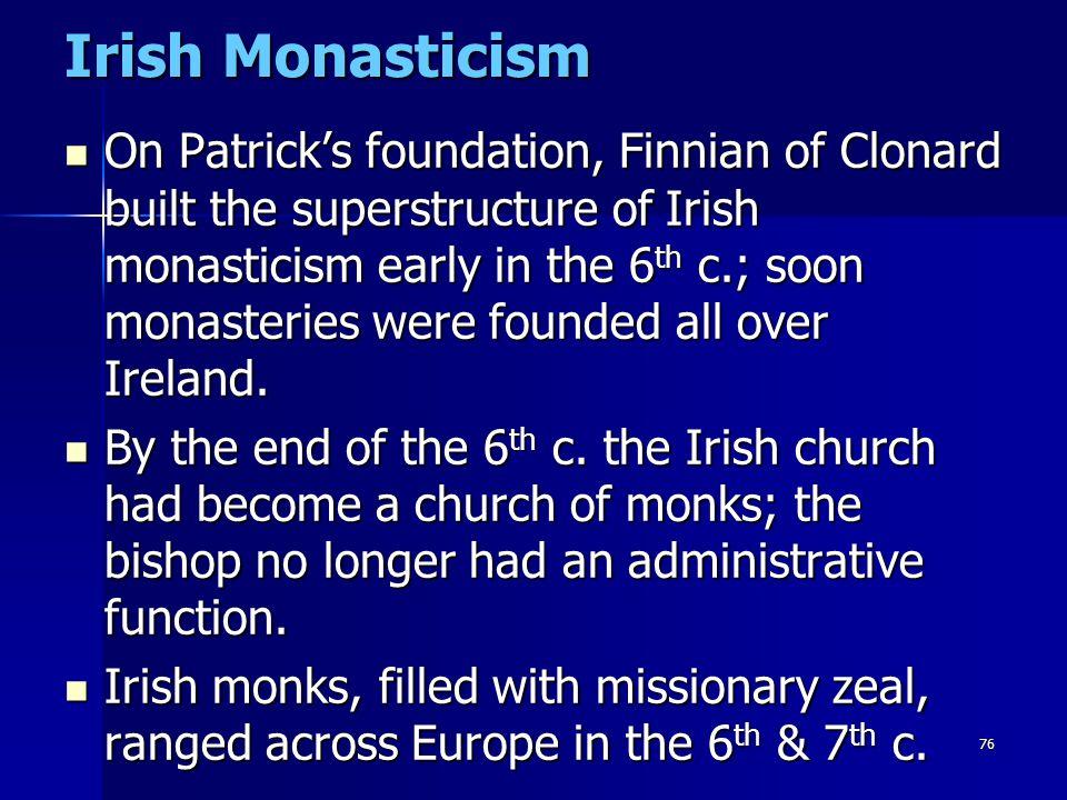 Irish Monasticism