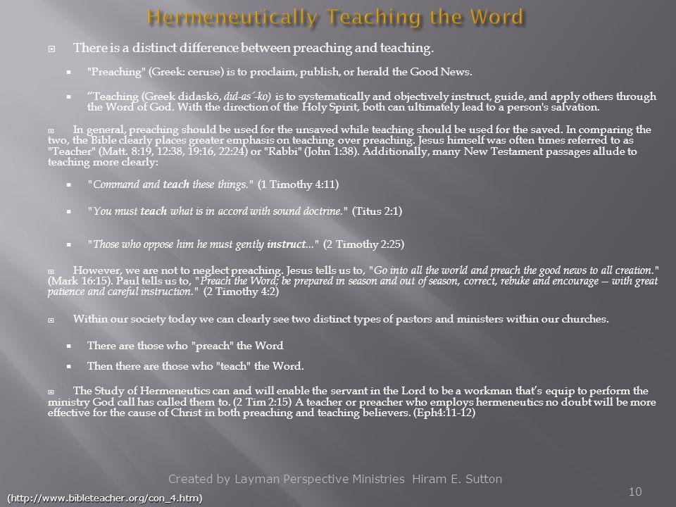 Hermeneutically Teaching the Word