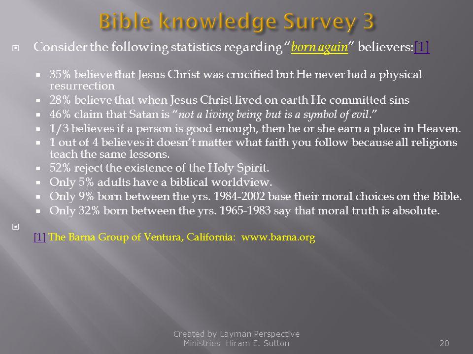 Bible knowledge Survey 3