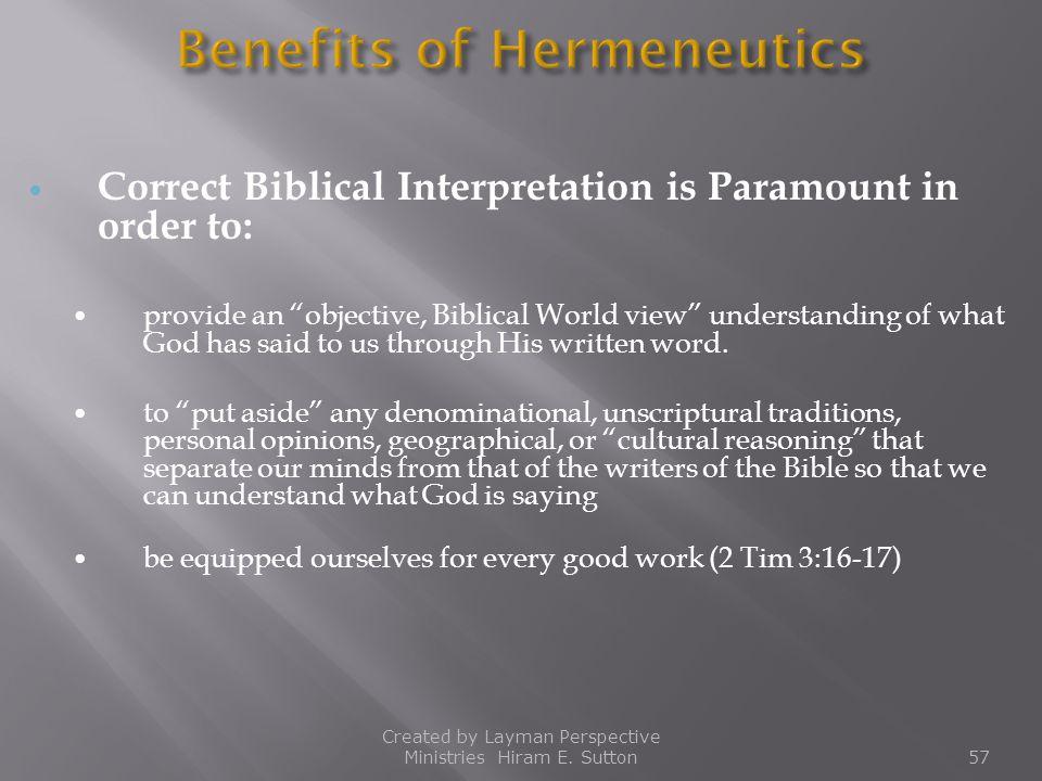 Benefits of Hermeneutics