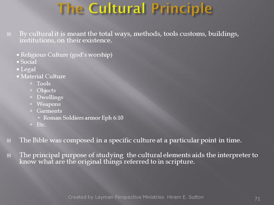 The Cultural Principle