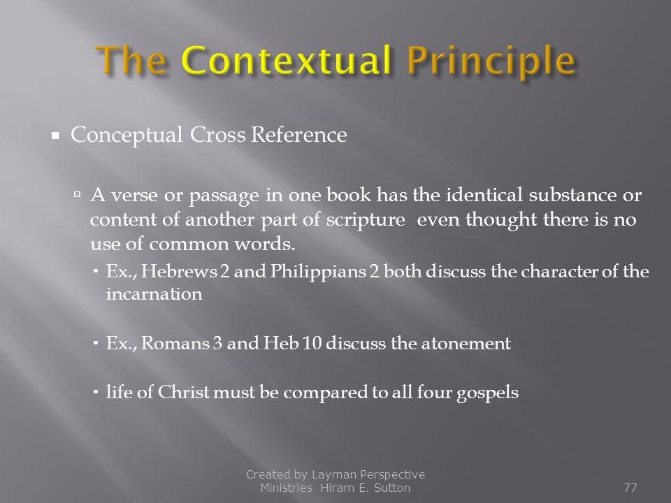 The Contextual Principle