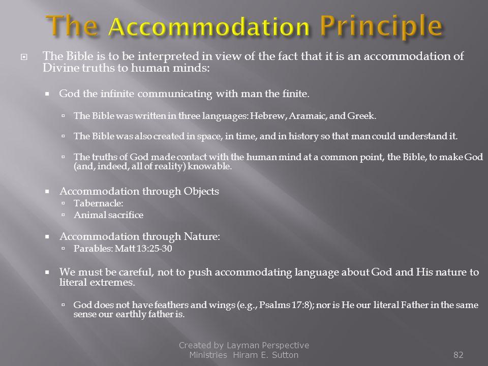 The Accommodation Principle