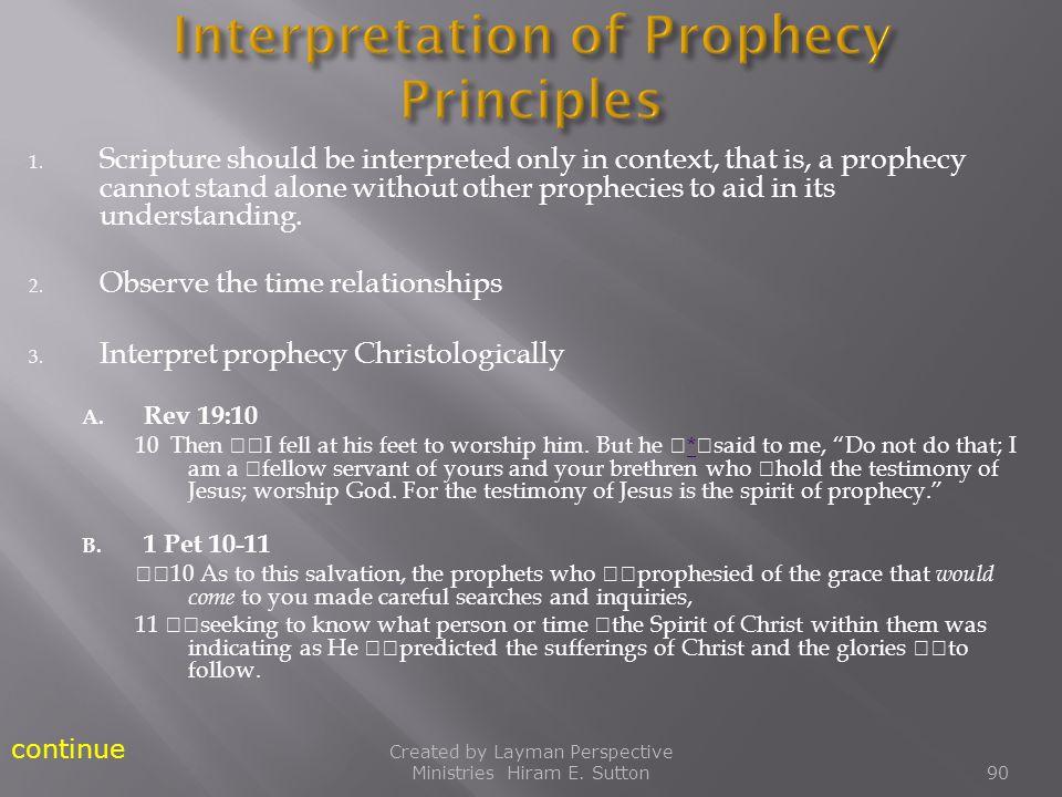 Interpretation of Prophecy Principles