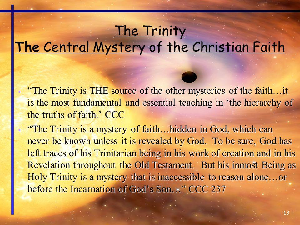 The Trinity The Central Mystery of the Christian Faith