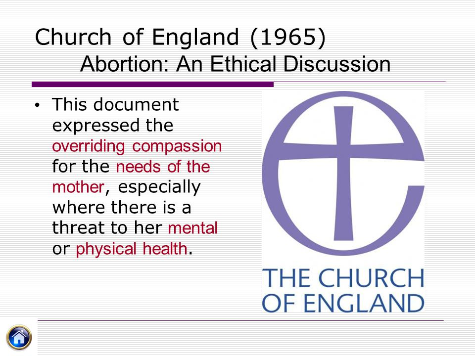 Church of England (1965) Abortion: An Ethical Discussion