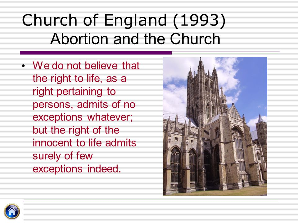 Church of England (1993) Abortion and the Church