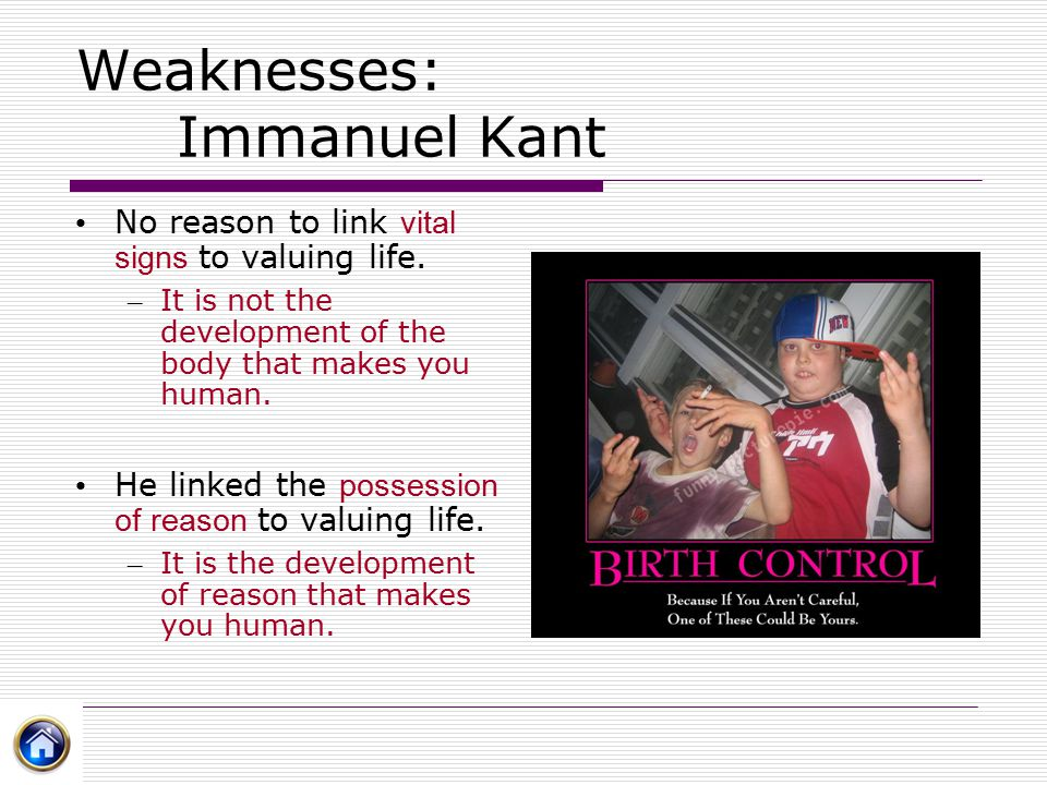 Weaknesses: Immanuel Kant