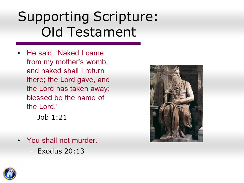 Supporting Scripture: Old Testament