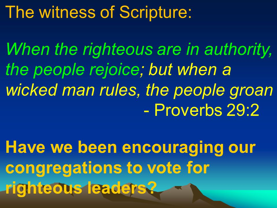The witness of Scripture: