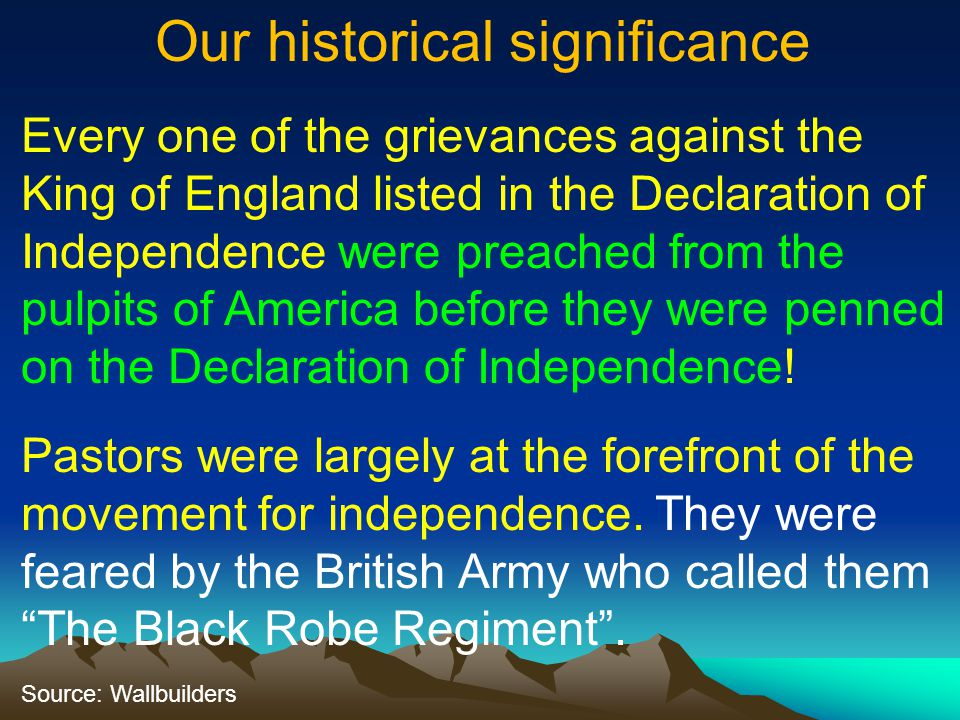Our historical significance