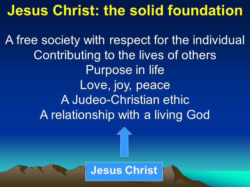 Jesus Christ: the solid foundation