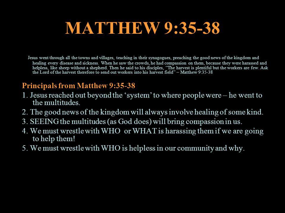 MATTHEW 9:35-38