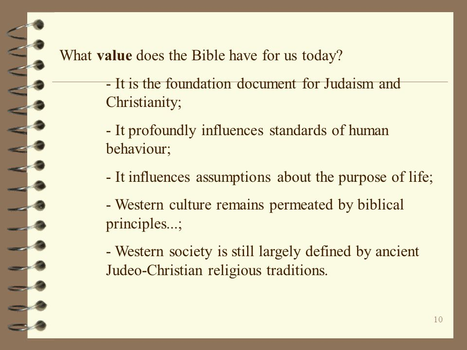 What value does the Bible have for us today