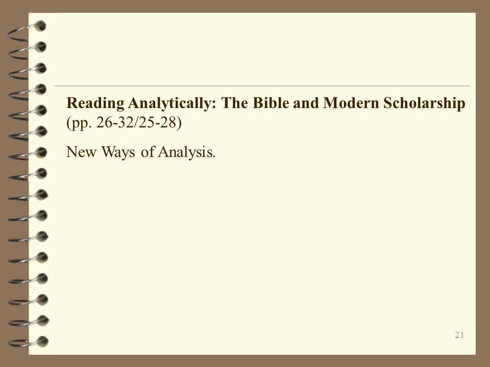 Reading Analytically: The Bible and Modern Scholarship (pp