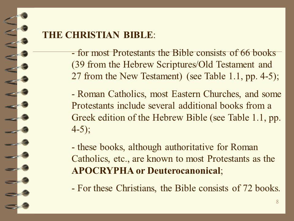 THE CHRISTIAN BIBLE: