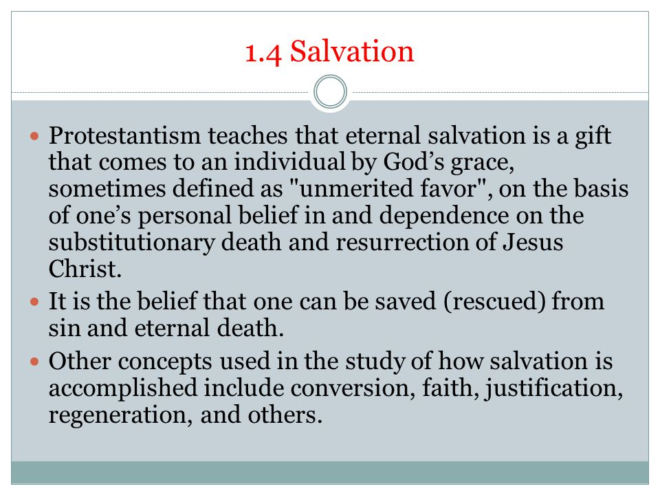 1.4 Salvation
