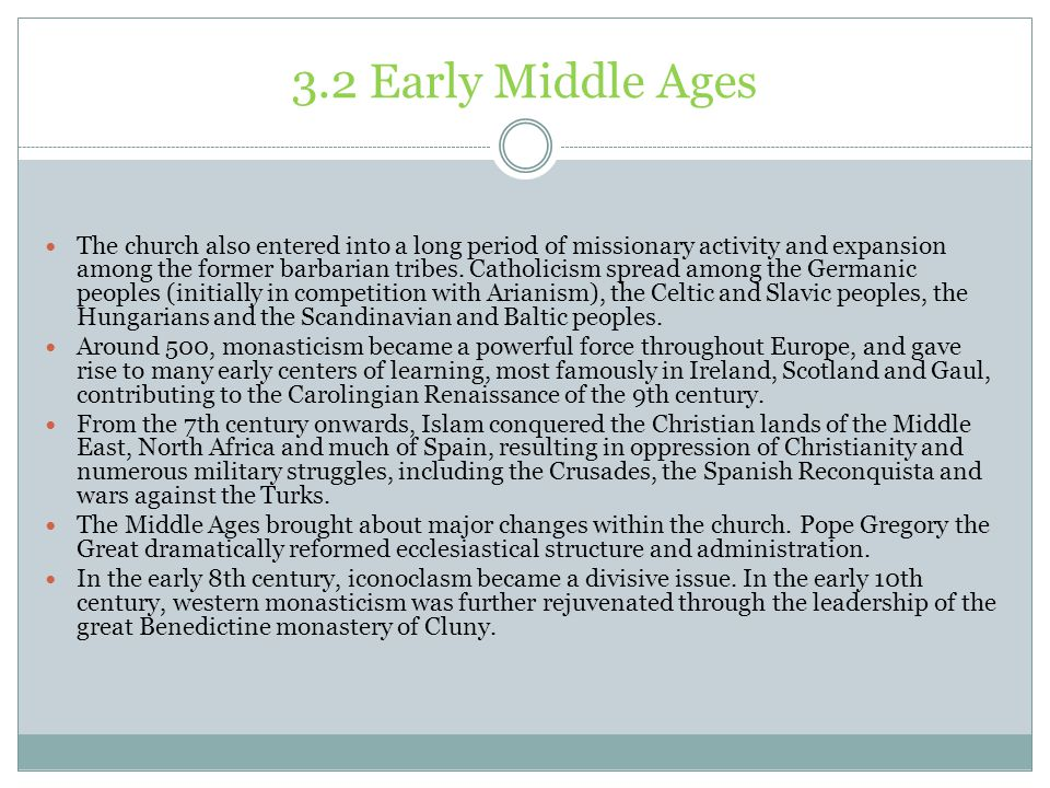 3.2 Early Middle Ages