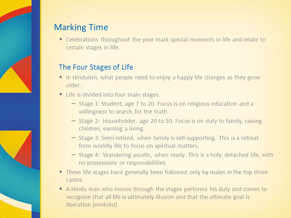 Marking Time The Four Stages of Life