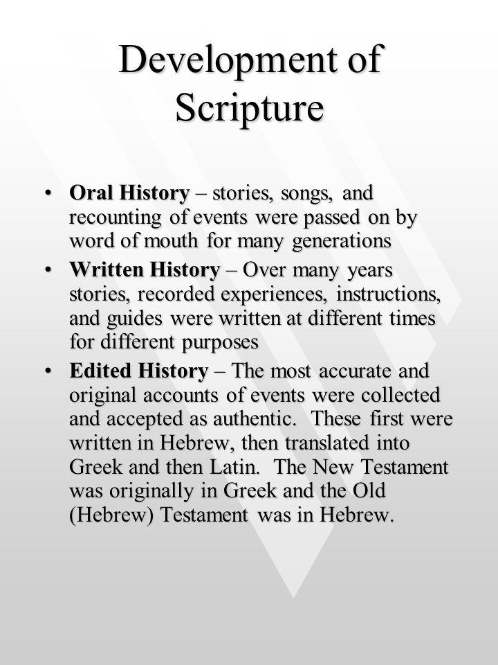 Development of Scripture