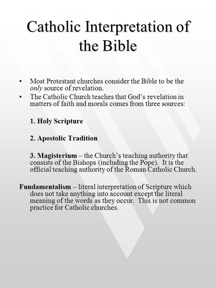 Catholic Interpretation of the Bible