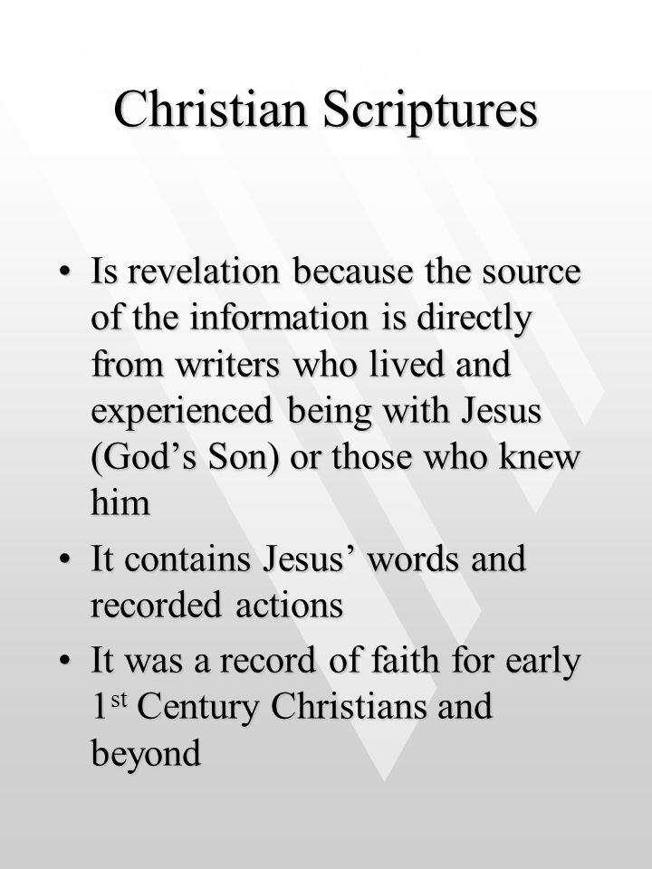 Christian Scriptures