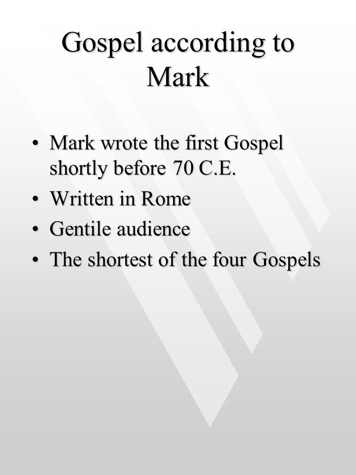 Gospel according to Mark