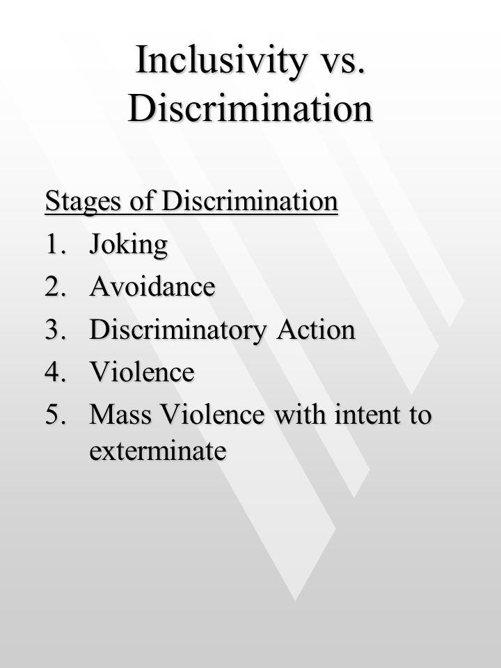 Inclusivity vs. Discrimination