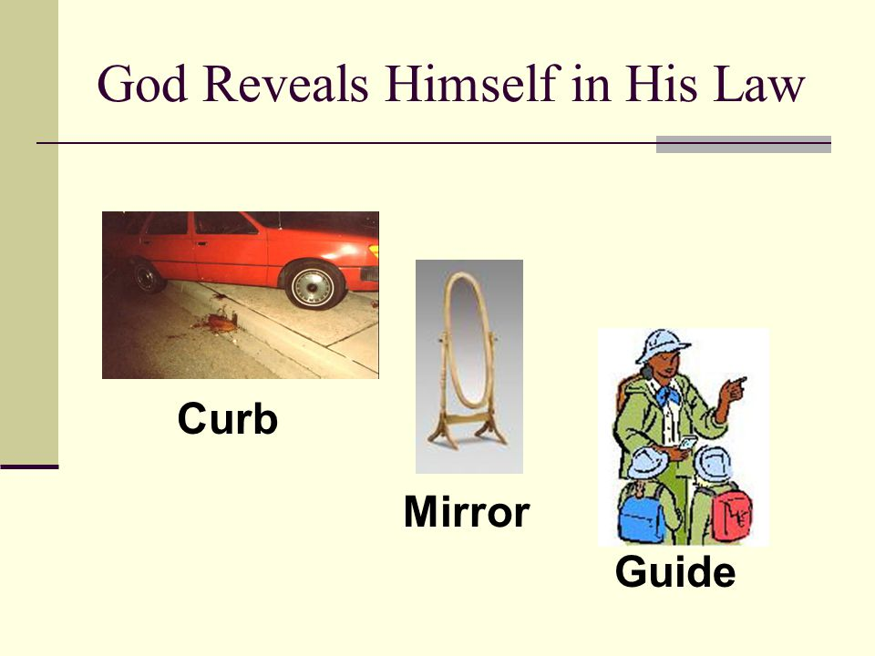 God Reveals Himself in His Law