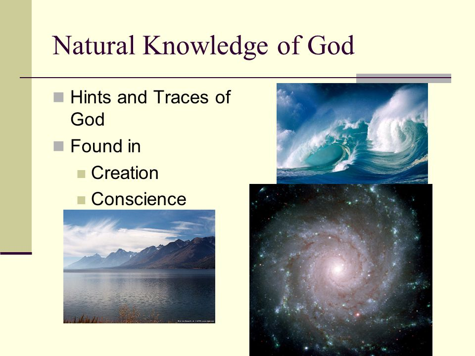 Natural Knowledge of God