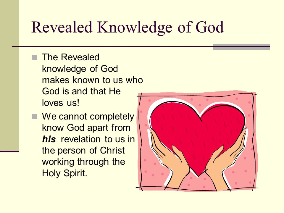 Revealed Knowledge of God