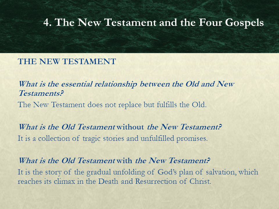 the portrayal of jesus in the four gospels of the new testament When one opens the new testament, he is introduced to four narratives which  are concerned with the activity and teaching of jesus of nazareth these records .