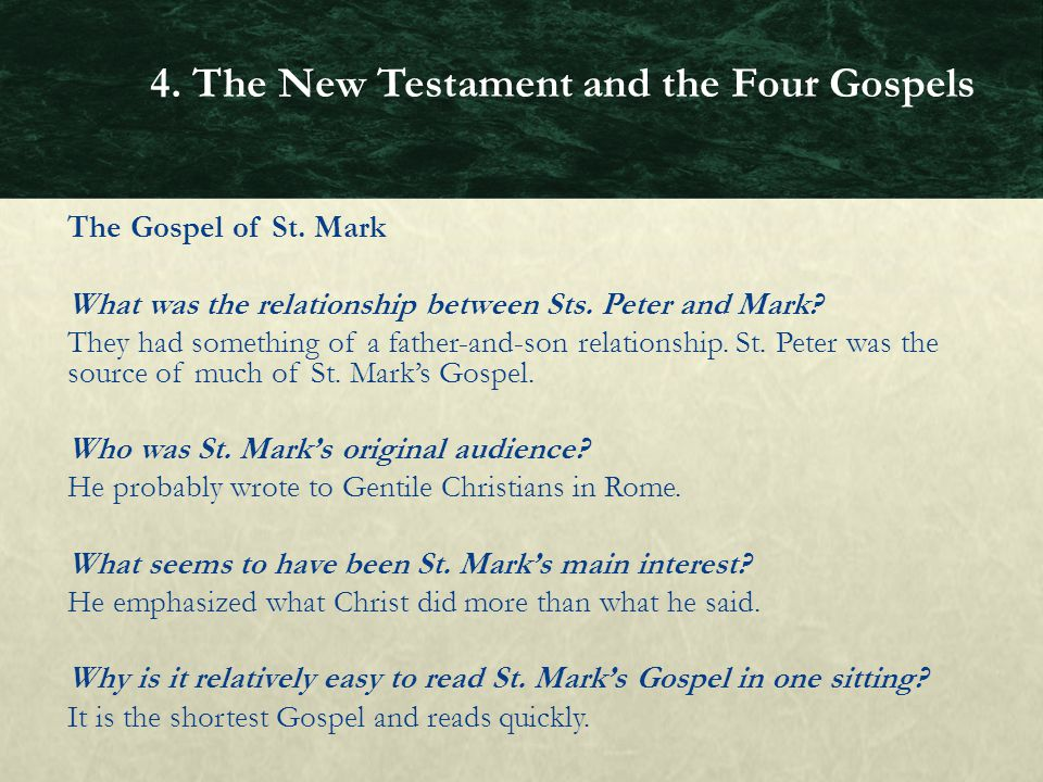 the relationship between god and humans in marks gospel Of mark's gospel rather than with any reconstructed  son of man is vindicated  by god in his resurrection  so we have (a) the representative relationship.